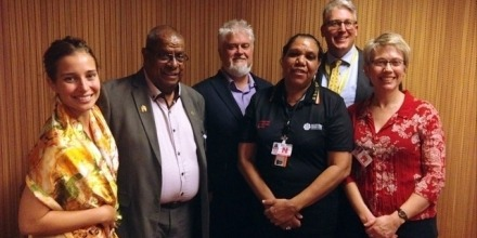 Visiting Fellow Dr Sarah Holcombe was invited by the Department of Foreign Affairs and Trade (DFAT, Human Rights and Indigenous Issues Branch) to participate in the annual UN Human Rights Council Forum